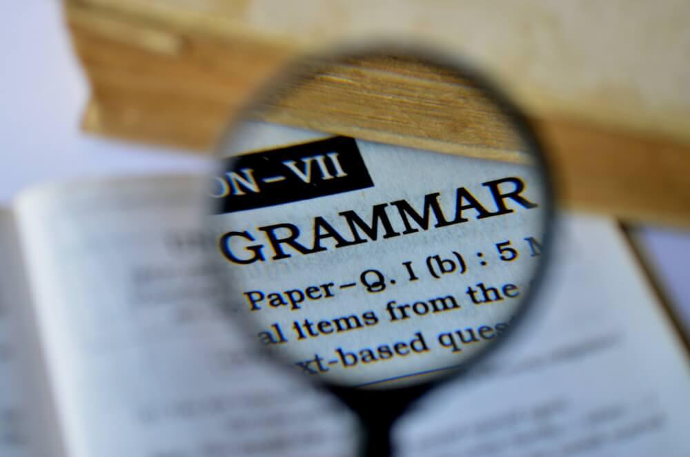 英文法、虫眼鏡