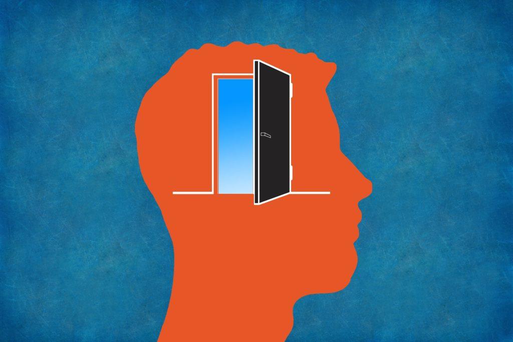 脳にインプットするための扉のイラスト