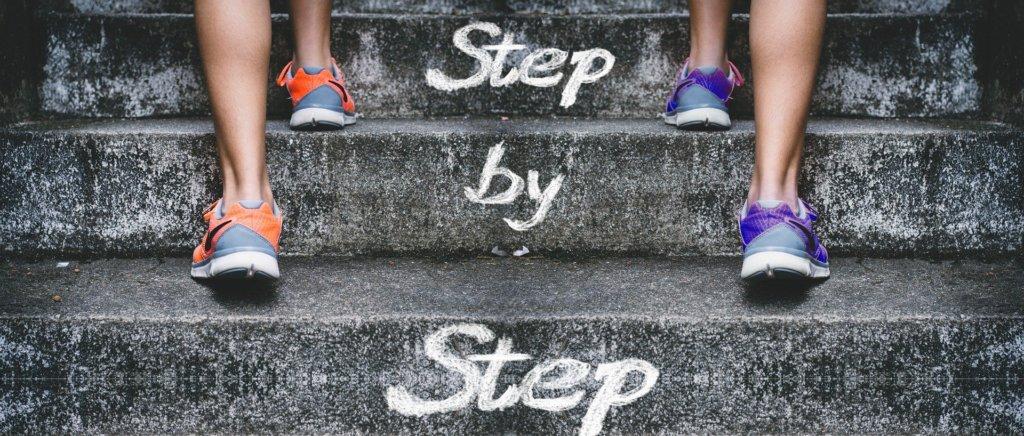 一歩ずつ階段を上る